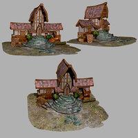 Medieval Village Nobleman House 3D model