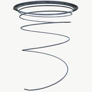 3D metal spiral spring