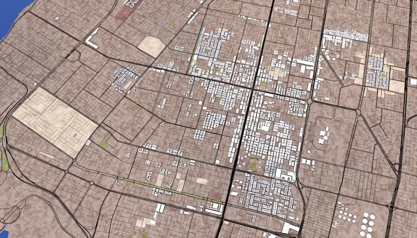 jeddah city 3d model