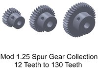 MOD 1.25 SB Spur Gear Collection
