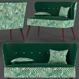 3D model cult living penelope sofa seat