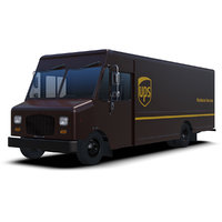 3D ups delivery step van