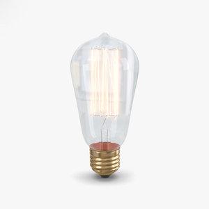 bulb edison 3D