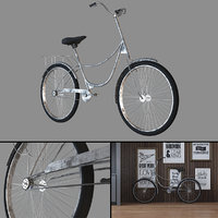 3D vintage bike