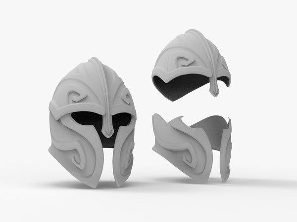 helmet print - 3D model