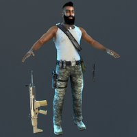 3D guerrilla soldier 2