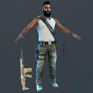 3D guerrilla soldier 2