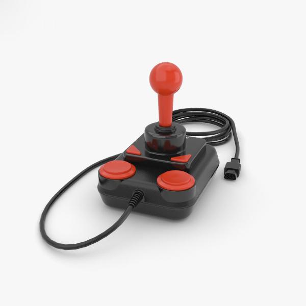 3D joystick controller gamepad model