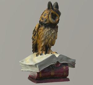 owl statuette scan lores 3D model