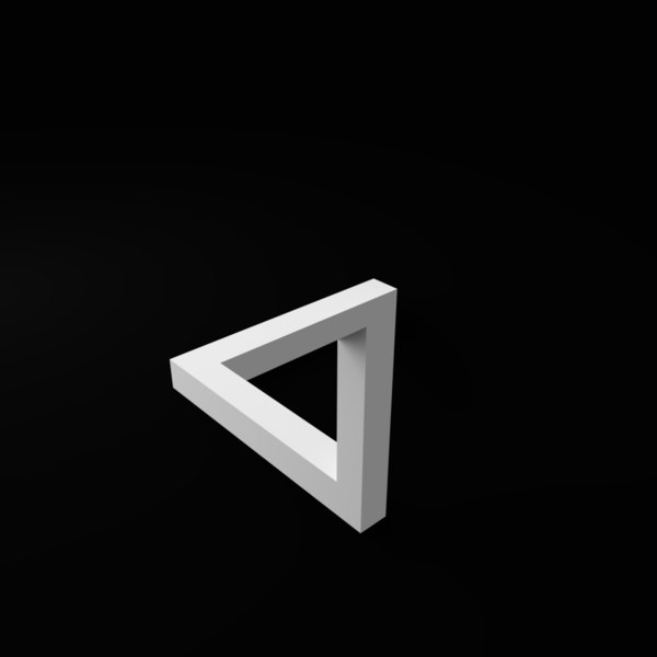 print penrose impossible triangle 3D model