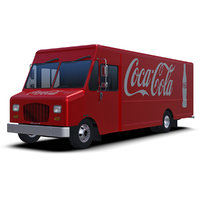 3D model coca-cola delivery step van