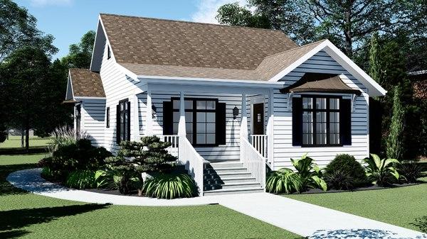 white modern house model