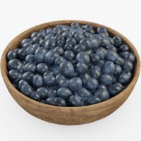 blueberry food fruits 3D model