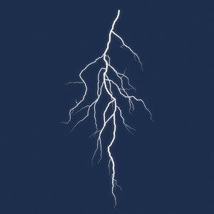 3D model lightning 1 light
