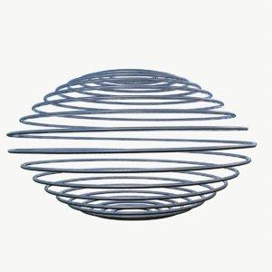 metal spiral spring 3D model