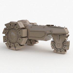 alkett vskfz 617 minenrumer 3D model