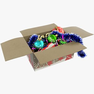 christmas tree toys box 3D