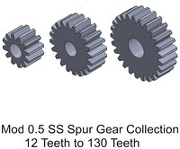 MOD 0.5 SS Spur Gear  Collection