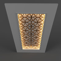 3D ceiling decor model