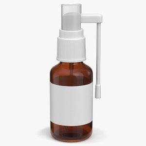 3D spray bottle medical