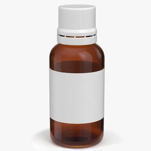 amber glass bottle model