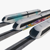 mono rail train 01 3D model