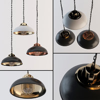 3D industrial ceiling lamps