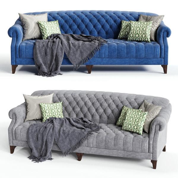 john sankey fairbanks sofa 3D model