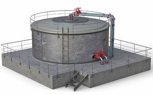 realistic industrial water tank model