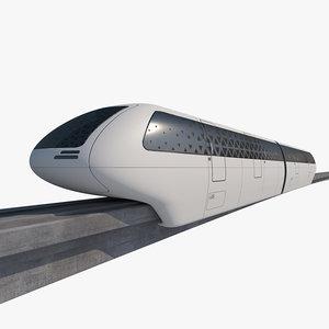 3D mono rail train 01
