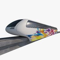 3D mono rail train 02 model