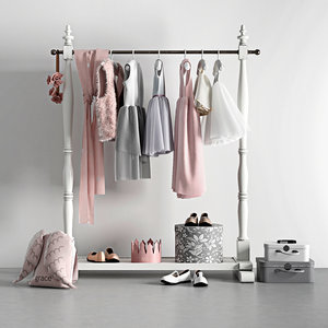 mini wardrobe rack model