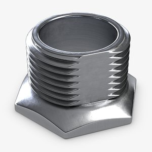 threaded fitting 3D model