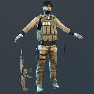 3D guerrilla soldier games