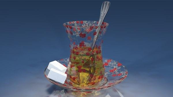 3D glass plate model