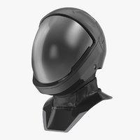 sci fi astronaut helmet 3D model