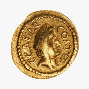 roman coin gold 3D model