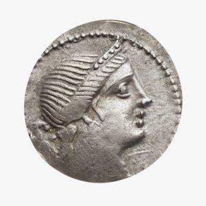roman coin silver model