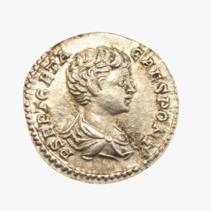 3D roman coin silver