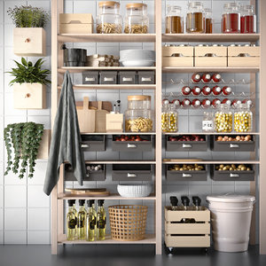 3D model kitchen rack