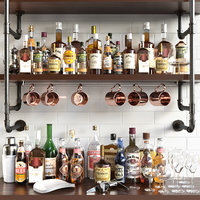 Shelves with alcohol Bar