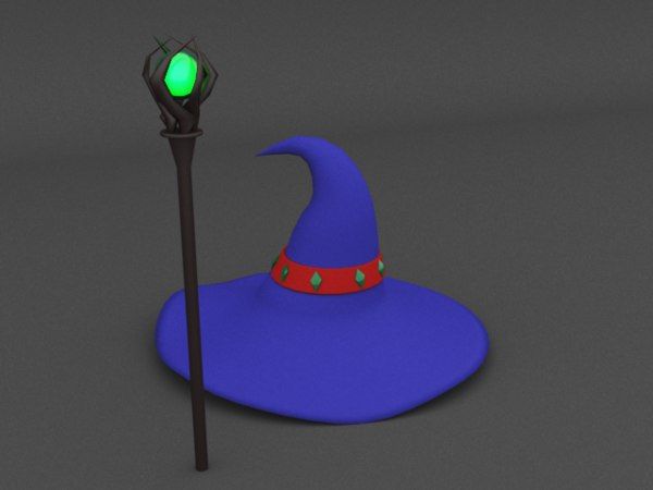 3D polly wizard hat