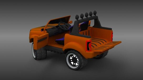 3D battery car model