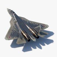 sukhoi su57 prototype 054 3D