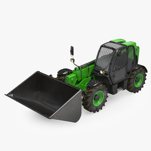 telehandler forklift scoop bucket 3D model