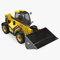 3D model telehandler forklift scoop bucket