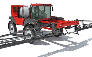 3D farm sprayer model