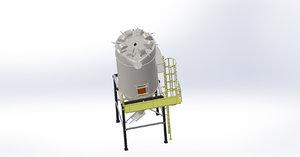 reverse air filter 3D model