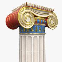 3D ionian column