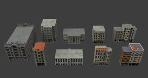 3D model buildings city
